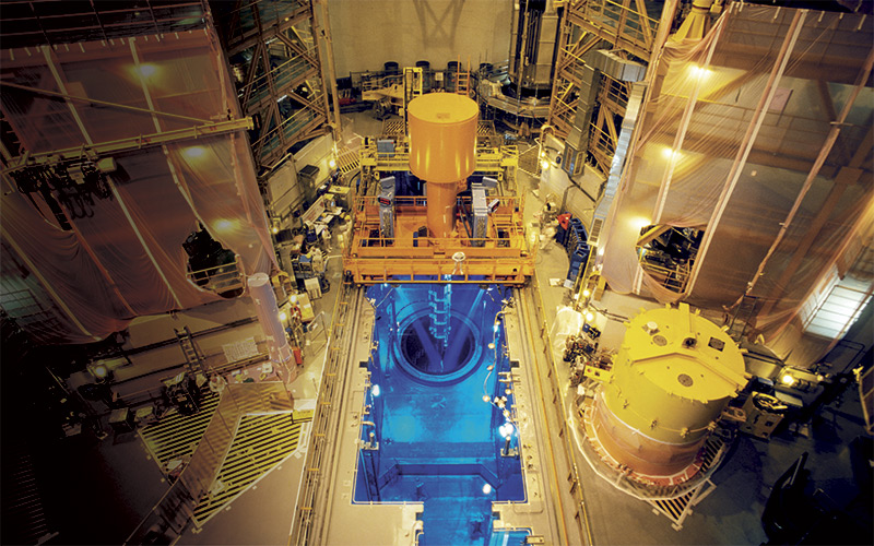Inside Fission Reactor