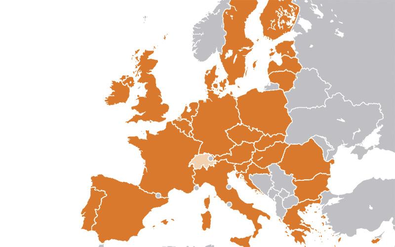 wiki Euratom Members Map