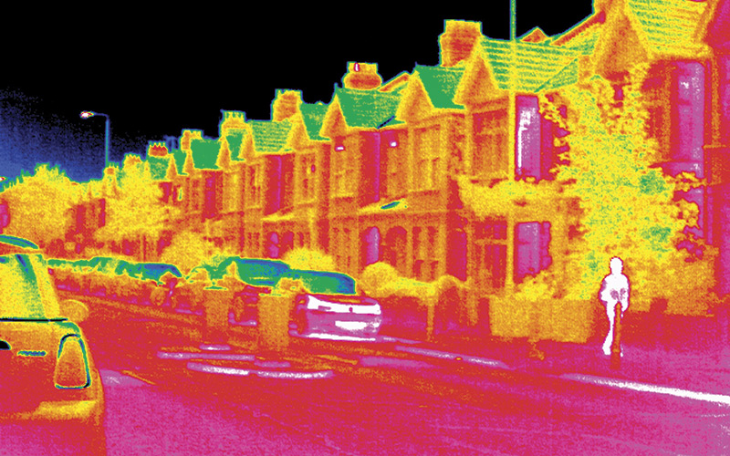 Decarbonising Heat Thermogram Heat of House Science Photo