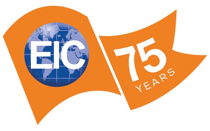 75 years of EIC logo