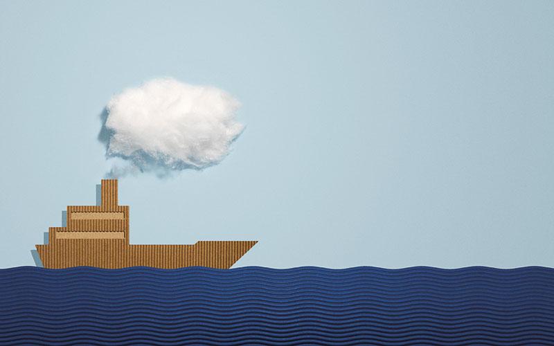 Cardboard Boat Illustration Richard Gleed