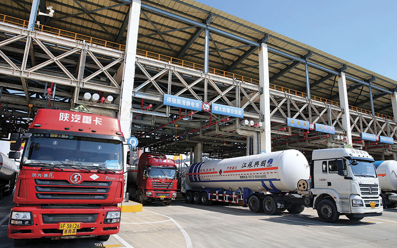 Transport lng Liquefied Natural Gas Terminal in Rudong County Alamy