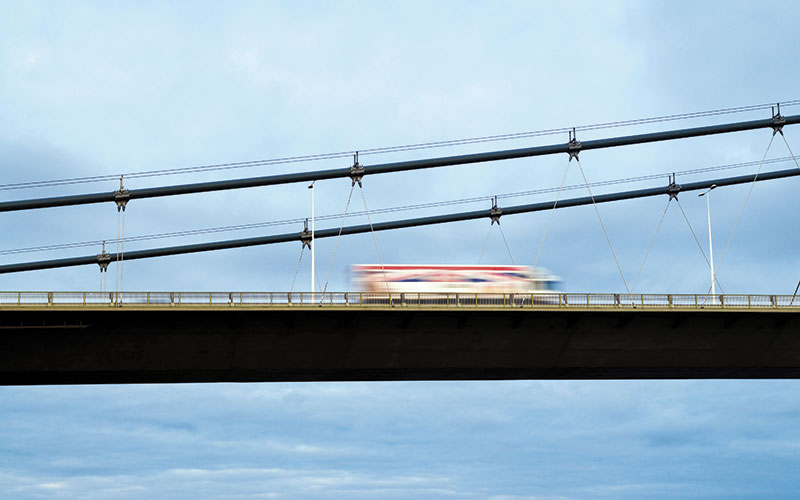 lng Transport Truck on Highway Bridge Alamy